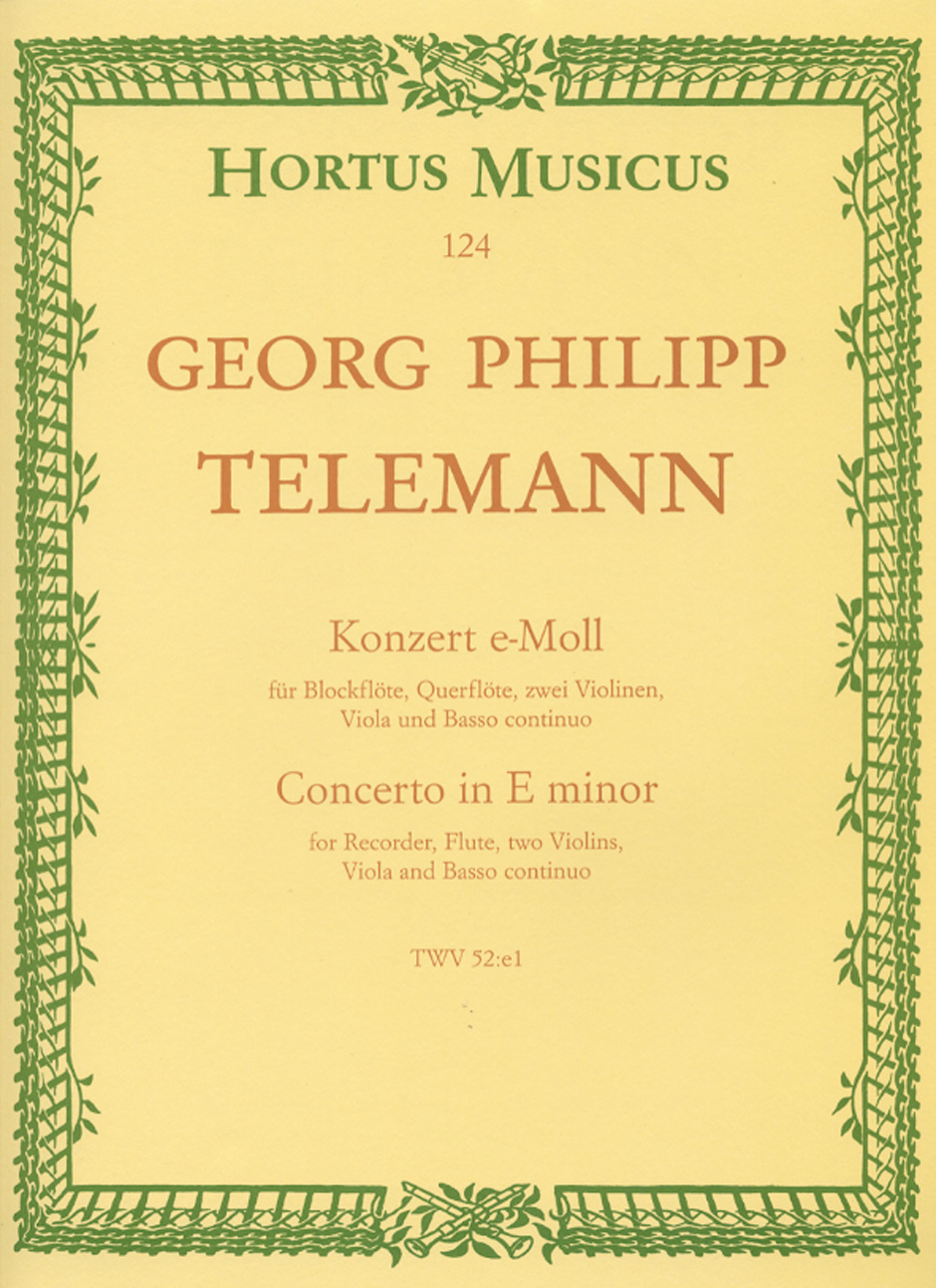 CONCERTO in E minor, TWV 52:e1 (score)
