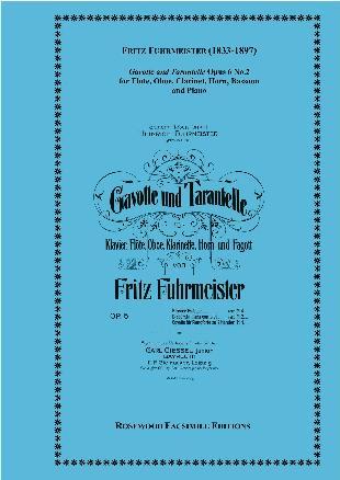 GAVOTTE AND TARANTELLE Op.6 No.2 (score & parts)