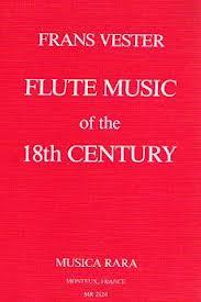 FLUTE MUSIC OF THE 18th CENTURY hardback