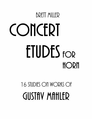 16 STUDIES on Works of Gustav Mahler