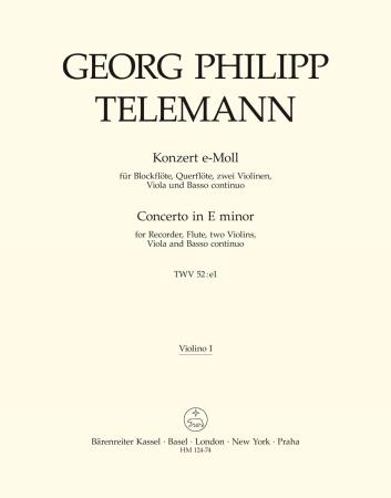 CONCERTO in E minor 1st violin part
