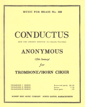 CONDUCTUS for Maundy Thursday