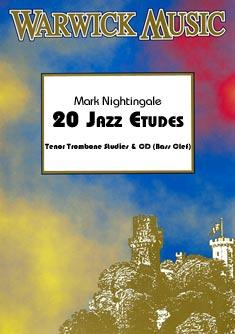 20 JAZZ ETUDES + CD (bass clef)