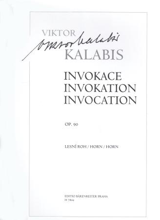 INVOCATION Op.90