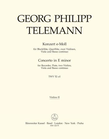CONCERTO in E minor 2nd violin part