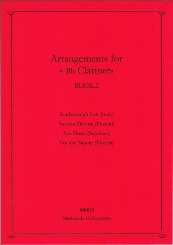 ARRANGEMENTS FOR FOUR CLARINETS Book 2