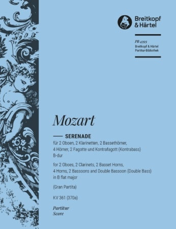 SERENADE No.10 in Bb major K361 'Gran Partita' (score)