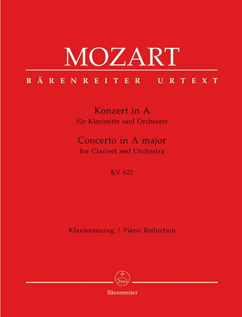 CLARINET CONCERTO in A major K622 (Urtext)