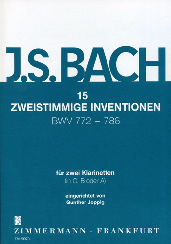 15 TWO-PART INVENTIONS BWV772-786