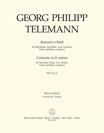 CONCERTO in E minor cello/basso continuo part