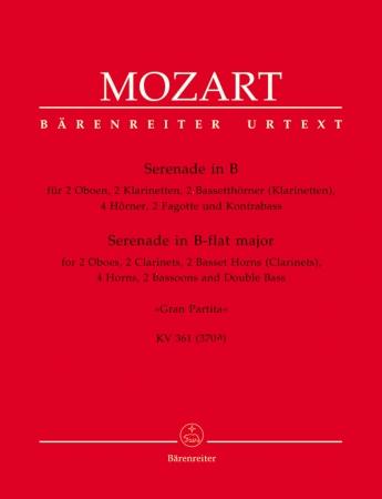 SERENADE No.10 in Bb major, KV361 (set of parts)