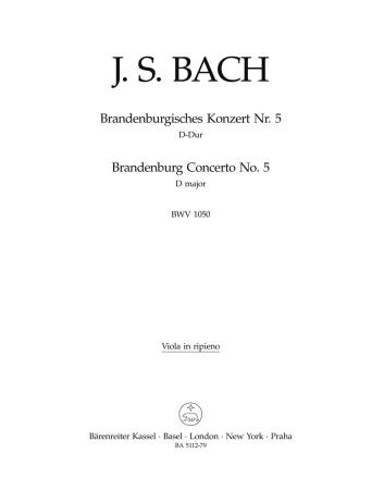 BRANDENBERG CONCERTO No.5 in D major BWV1050 Ripieno Viola