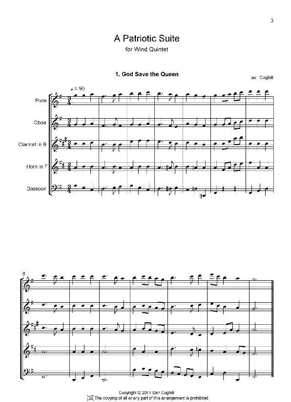 A PATRIOTIC SUITE (score & parts)