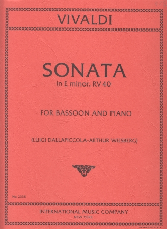 SONATA No.5 in E minor, RV40